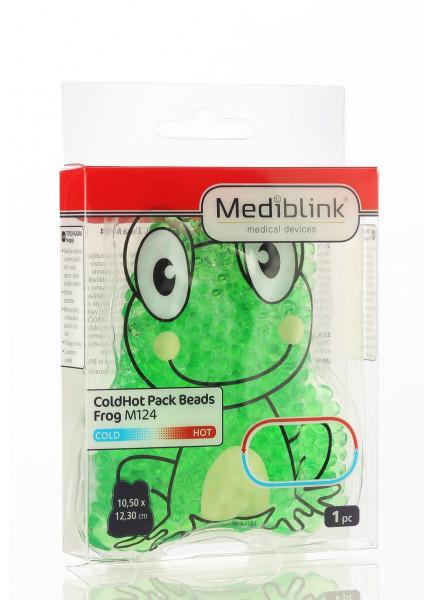 MEDIBLINK Hladilno-toplotna blazinica s kroglicami, Žaba 10,5 x 11,5 cm M124